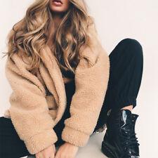 Hot Fashion Lady Fluffy Faux Fur Coat Jacket Winter Warm Outwear Cardigan Tops