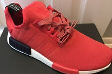 Adidas NMD R1 W Vivid Red Navy S76013 PK Runner Boost Yeezy Size 6.5