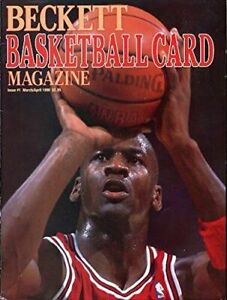 Beckett Basketball Monthly Guide March/April 1990 Issue #1 Michael Jordan RC