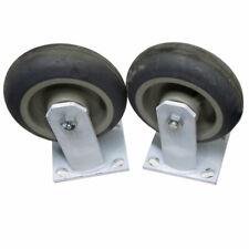 Lot Of 2 Algood 6560 Industrial Heavy Duty White Welded Steel 6 Caster Wheels