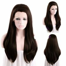 Dark Brown Wig Lace Front Long Straight Hair Wig+Free Shipping