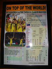 Australia 2015 ICC Cricket World Cup Winners - framed print