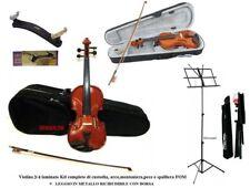 VIOLINO DA STUDIO MISURA 3/4 KIT : CUSTODIA + ARCHETTO + SPALLIERA FOM + LEGGIO