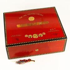 Elie Bleu Medals Medailles Red Humidor (75 Cigars) Flor Fina w/ Original Key