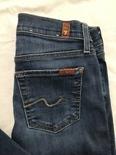 7 Seven For All Mankind The Skinny Jeans Tag Size 25 Slim Stretch Distressed