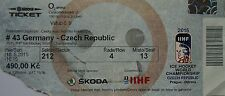 TICKET Eishockey WM 10.5.2015 Deutschland - Tschechien in Prag