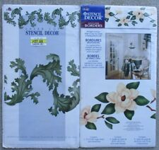 PLAID Stencils ACANTHUS LEAVES #27714 and MAGNOLIA BLOSSOMS #26709 ~ NOS unused