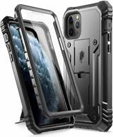 For iPhone 11 Pro Case,Poetic Full Coverage Shockproof Tough Kick Stand Black