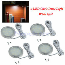 4pcs Circle 5050SMD 9-LED Boat Marine Cabin Light Car Caravan Dome Ceiling Bulbs