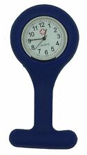 Silicone Nurses Brooch Tunic Fob Watch New With FREE BATTERY (5 - Dark Blue)