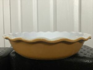 Butterscotch Coloured Emile Henry France 31.26 B07 Flan Pie Dish