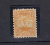 Malta KEVII 1904 4 1/2d Orange SG58 MNH JK750