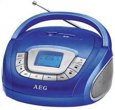 AEG Stereo USB Radio blau blue SD Karte Wecker Alarmfunktion AUX in USB Slot