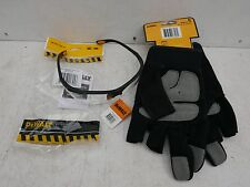 DEWALT 3 FINGER FRAMER GLOVES DPG214L + REINFORCER CLEAR SAFETY GLASSES DPG58 1D