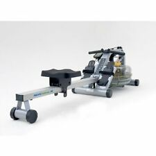 First Degree Fitness Pacific AR Rower Water Rower Exercise Machine - Gun Metal