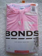BNIP Baby Girl's Bonds Pink & White Zip Wondersuit/Coverall/Sleeper Size 00