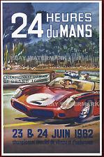1962 24 Heures Du Mans Ferrari 248 SP Vintage Advertising Race Poster 11 x 17