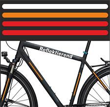 4x 23cm x1cm Aufkleber Reflektierend Kinderfahrad Sicherheit Siegnal Warnfolie