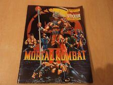 Official Mortal Kombat II Sticker Album - Rare Panini Sticker Collection