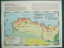WW2 WWII MAP ~ OPERATION COMPASS 9 SEPTEMBER FEB 1941 ALLIED ARMY RETREAT BATTLE