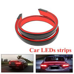 Universal LED Strips Car Brake Light Rear Tail Bar Trunk Lamp High Mount Stop