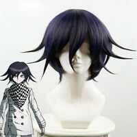 For New Killing Harmony Ouma Kokichi Short Purple Ombre Cosplay Wig