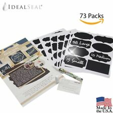 73 Premium Reusable Chalkboard Labels Chalkboard Stickers with Dual Tip Bullet