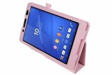 """Pink Magnetic PU Leather Case Cover for Sony Z3 8"""" Tablet Compact"""