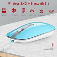 2.4G Wireless Mouse Bluetooth 5.1 Silent Dual Mode USB Rechargeable Mouse·