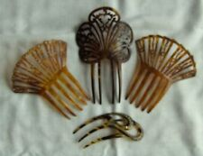"""Beautiful Vintage Hair Combs Slides x 4 some with Diamante 4"""" - 6"""""""
