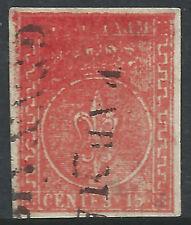 ITALIA-STATI Parma: 1854 15 C rosso fine utilizzato due - 2036