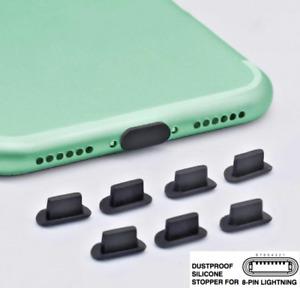 7x Staubschutz Kappe Stöpsel für iPhone 11 11 Pro 12 12 Pro Max Buchse Stecker