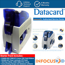 Datacard SP75 Plus ID Card/Badge Printer With Dual Laminator And Starter Pack