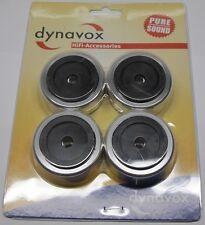 4x Dynavox massive Hifi-Gerätefü�Ÿe Aluminium 50mm Boxenfü�Ÿe Gummidämpfer