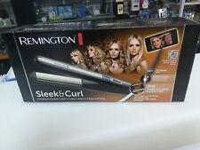 Remington Sleek & Curl Piastra per Capelli, Nero/Beige Ricci Professionale nuova