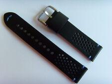 FOSSIL Original Ersatz Lederarmband FS5321 Uhrband watch strap schwarz blau 22mm