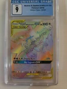 Pokemon Moltres Zapdos Articuno GX Full Art Tag Team Secret Rare CGC 9