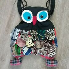 Farnike OWL Purse Boho Colorful Patchwork Hippie Small Cloth Handbag
