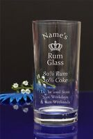 Personalised Your Name Engraved Hi Ball Tumbler Glass/ Rum a Coke/ B-day 287