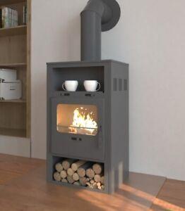 EEK A Kaminofen Indi für Holz+Kohlefeuerung,  6,6kW Kamin Ofen Werkstattofen