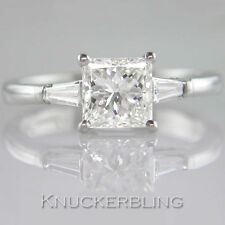 White Gold Very Good VS1 Solitaire With Accents Fine Diamond Rings