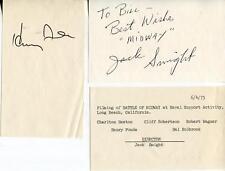 MIDWAY CAST SIGNED PAGES AUTOGRAPH JSA AUTHENTICATED LETTER CIFF ROBERTSON HAL