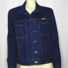 Vintage Rustler Womens M Denim Jacket Blue Jean Dark Wash Trucker Style