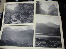 "c1890s 6 x NORTH WALES - SNOWDON - BETTWS-Y-COED 10½"" x 8"" ALBUMEN PHOTOGRAPHS"