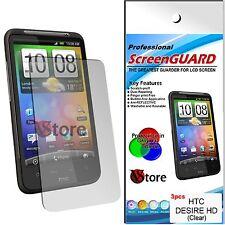 3 PZ PELLICOLA PROTEGGI SALVA SCHERMO LCD PER HTC  DESIRE HD