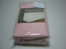 "Levinsohn Textile Smooth Weave Pink King Tailored Bedskirt 14"" Drop NIP"