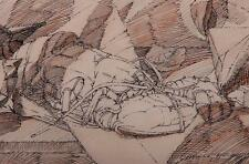 Stefano Cusumano American (1912 - 1975),  Modernist Cubist Drawing date 1968
