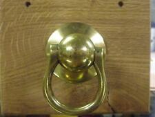ANTIQUE LARGE VICTORIAN SOLID BRASS STABLE TIE RING.