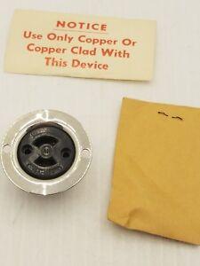 ARROW HART 7468 MIDGET LOCKING EQUIPMENT RECEPTACLE 2P 2W 10A-250V 15A-125V ~NIB