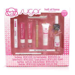 NIB Sugar Hall of Fame Gift Set DAY Double Wink Mascara Slicks Sweet Cheeks